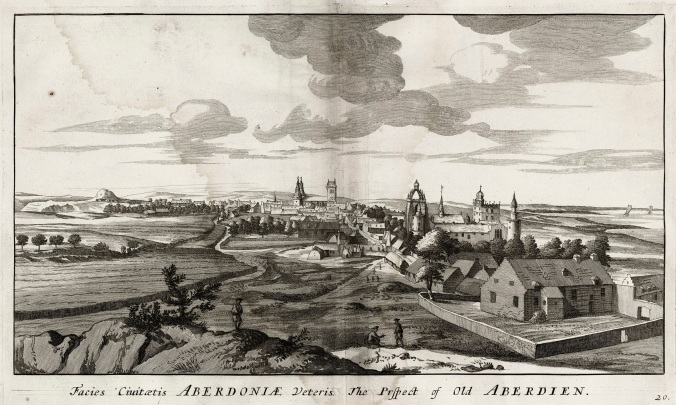 Prospect of Old Aberdeen. John Slezer, Theatrum Scotiae, 1693. Aberdeen University SB f91.41. Sle 1