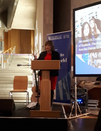 Fiona Hyslop MSP addressing guests